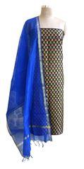 Designer Banarsi Black Cotton Silk Weaven Shalwar Kameez Dress Material BSD03