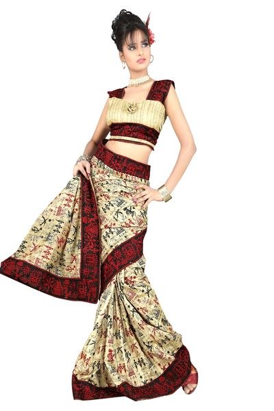 Embroidered Bhagalpuri Cotton Silk Saree SC3101