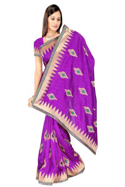 Embroidered Bhagalpuri Cotton Silk Saree SC3113