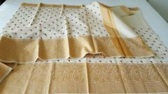 Designer Cream Kota Cotton Embroidered Saree KCS99