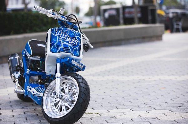 Tampa Bay Lightning Themed Honda Ruckus Full Custom Jst4shw Rucks