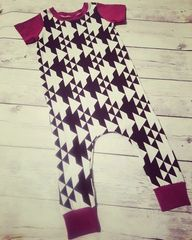 Aztec and Magenta Harem Coverall
