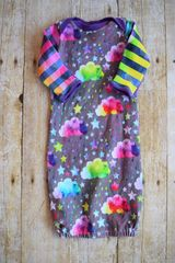 Rainbow Rain Clouds Gown