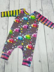Rainbow Rain Clouds Harem Coverall