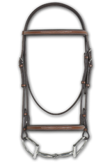 RODRIGO PESSOA® FANCY RAISED PADDED BRIDLE W/ RAISED FANCY STITCH LACE REINS