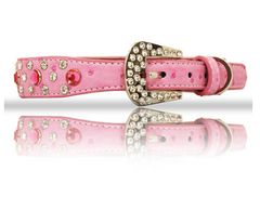 Pink Rhinestone Dog Collar