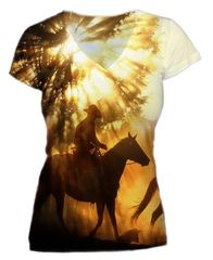 Western Sunset Ride Vneck