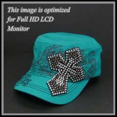 Turquoise Cross Cap