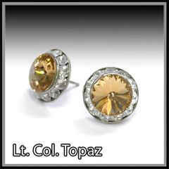 Lt. Col. Topaz Crystal Earrings