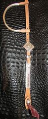 Headstall with scroll design on smooth edge