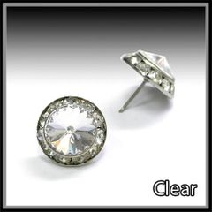 Clear Crystal Post Earring