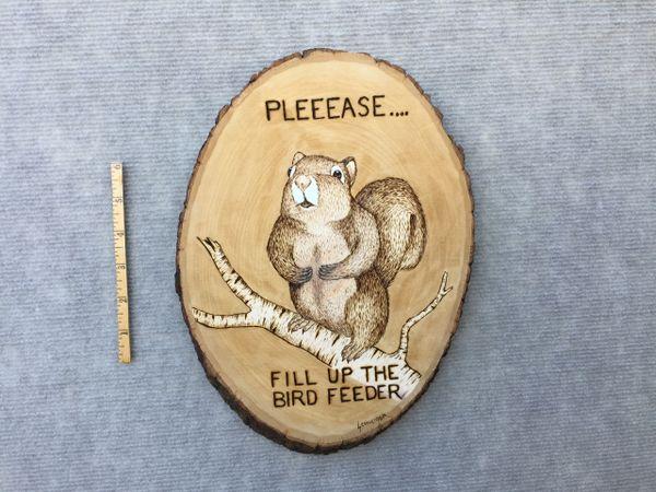 squirrel (sold/med./$65/burned