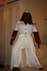 BFF, KOKO WHO CAN TALK AND CAN WALK WENT TO A PARTY DRESSED IN WHITE. If you need a payment plan, email us at clothadultdolls@hotmail.com