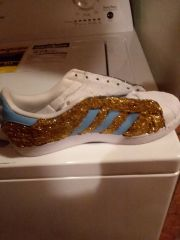 CUSTOMIZED GLITTER TENNIS SHOES