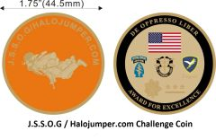J.S.S.O.G / Halojumper.com Challenge Coin (Replacement)