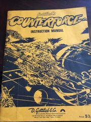 Gottlieb Counterforce Instruction Manual / schematic
