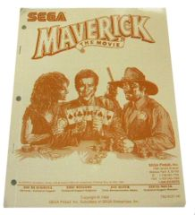 Maverick The Movie NOS factory original manual. Sega part #780-5031-00.