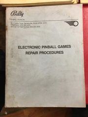 Bally Electronics Repair Procedures Manual - Original Used