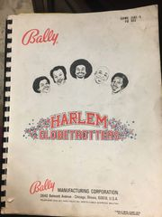 Bally Harlem Globetrotters Operations Manual/Schematics - Original Used