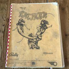 Bally Fathom Operations Manual/Schematics - Original Used