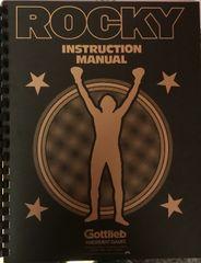 Gottlieb Rocky Instruction Manual / Schematics - NOS