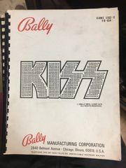 Bally Kiss Operations Manual/Schematics - Original Used