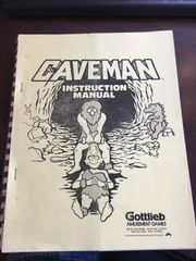 Gottlieb Caveman Instruction Manual / schematic - licensed copy