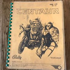 Bally Centaur Operations Manual/Schematics - Original Used