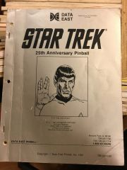 Star Trek 25th ST25 Operations Manual - Original Used