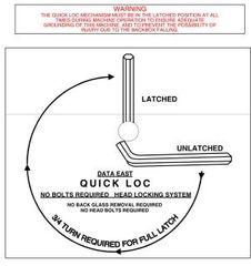 820-5000-QL Stick on decal for Roto-lock / Quick Loc