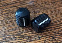 """Aluminum Knob Black - 1/2"""" Diameter"""