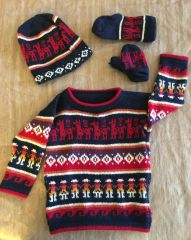 Baby Sweater Set with Cap, Mittens & Socks