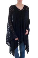 Beautiful Black Poncho, Only One Left!