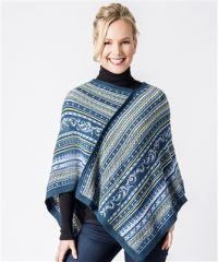 Black Wave Alpaca Shoulder Wrap