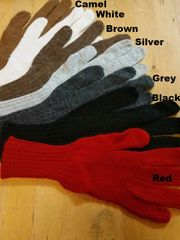 100% Alpaca Fleece Full-fingered Gloves