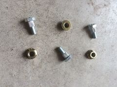 Section bolts and nuts to fit Schumacher systems