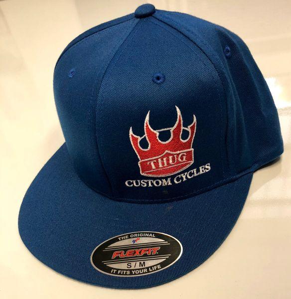 THUG Flex Fit Blue w/Red Crown