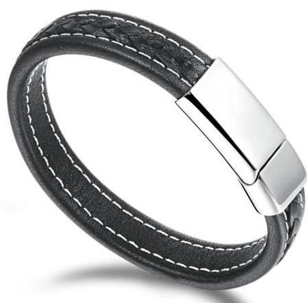 Solid Leather stitched bracelet