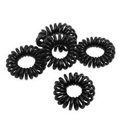 8pcs Plastic telephone cable hair elastics