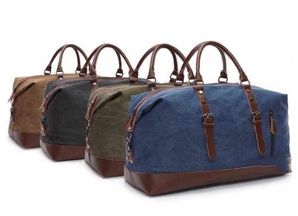 Large canvas travel bag