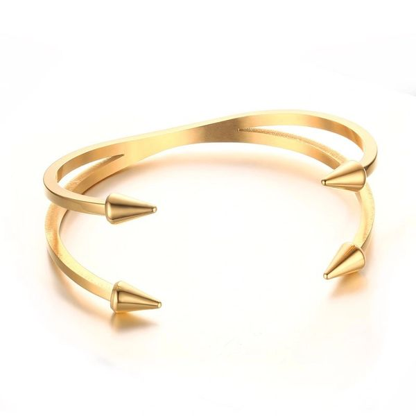 Arrow point adjustable bangle bracelet