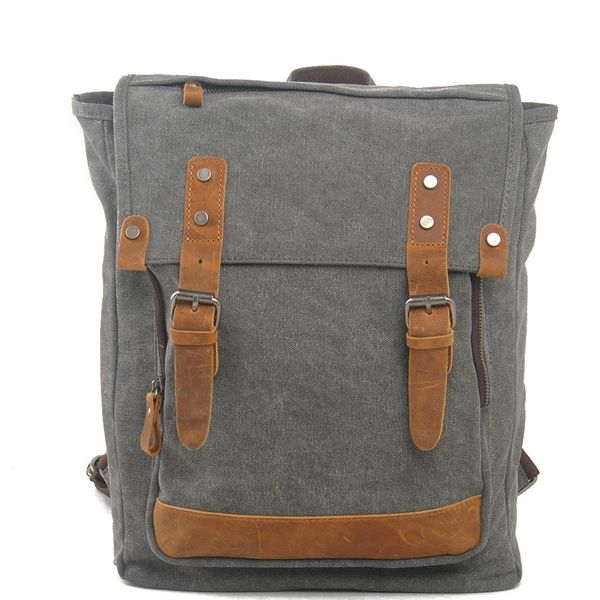 Canvas backpack with cross body strap