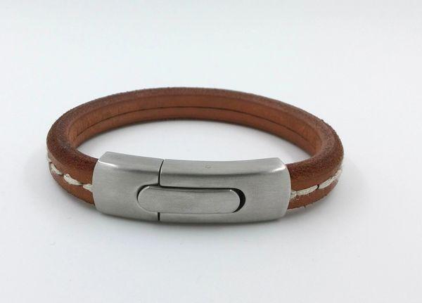 Vintage tan leather bracelet