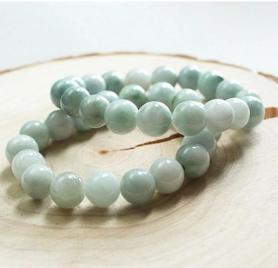 Amazonite white beaded bracelet