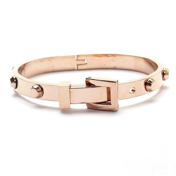 Stainless steel belt style stud bracelet