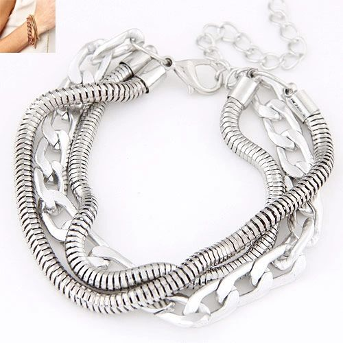 Triple strand mesh tube bracelet