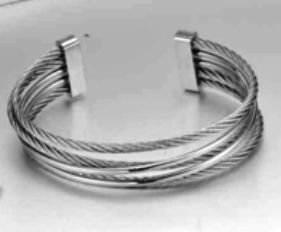 Stainless steel multi strand wire bangle