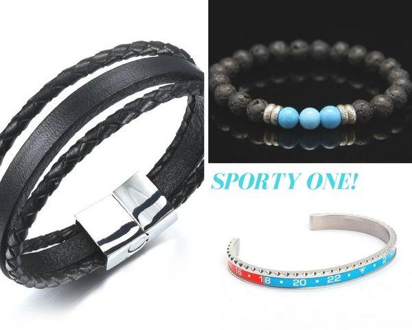 Sporty 3 Piece bracelet set - for men