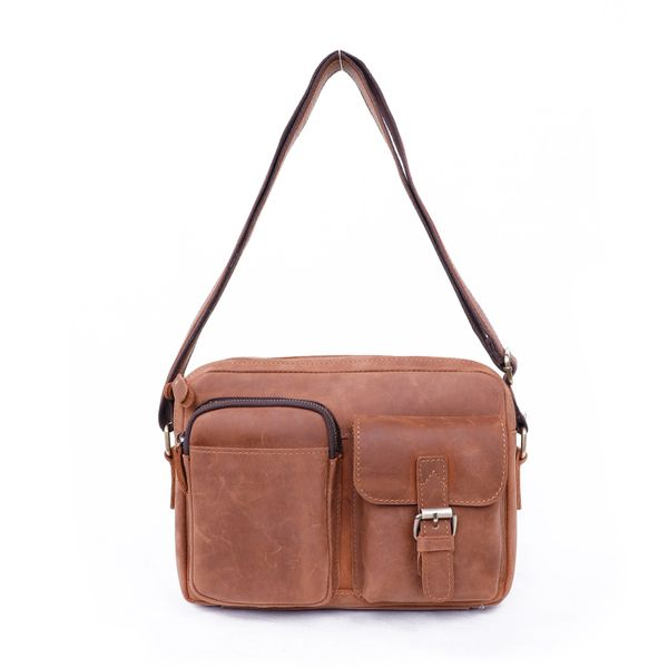 Leather heavy duty messenger bag