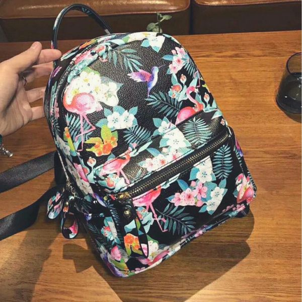 Small floral backpack